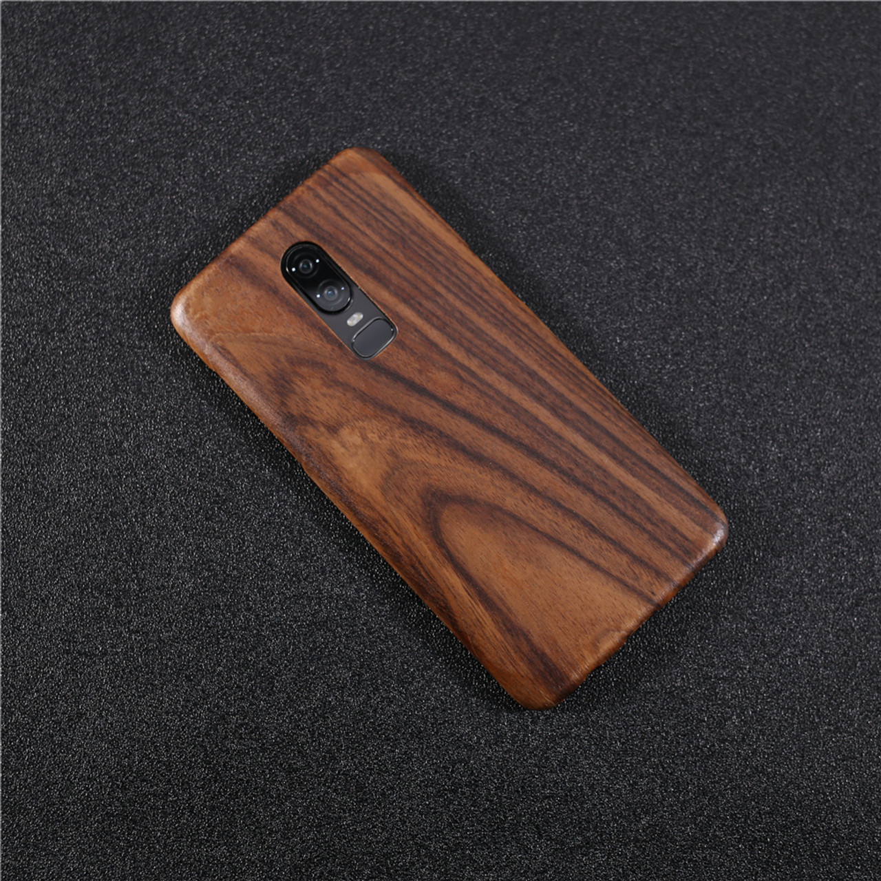 cheaper 20514 d3afc oneplus 6 case catman original genuine real wood funda bamboo rosewood  luxury back cover phone shell one plus 6 case