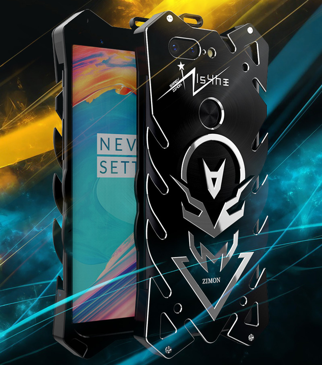 online retailer 5d0f1 1047a Original Simon THOR IRONMAN Shockproof Outdoor Metal Cover Aluminium  Anti-knock Case For Oneplus 5T Three/One Plus 5T A5010