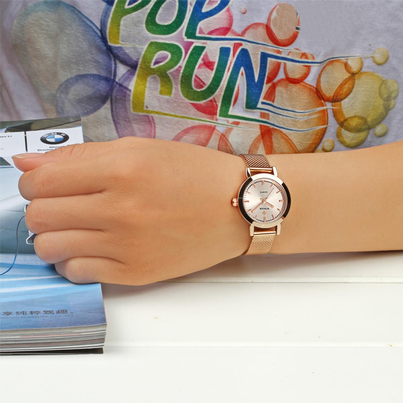 Good Women Dress Watches Luxury Brand Ladies Quartz Watch Stainless Steel Mesh Band Casual Gold Bracelet Wristwatch Reloj Mujer Women's Watches