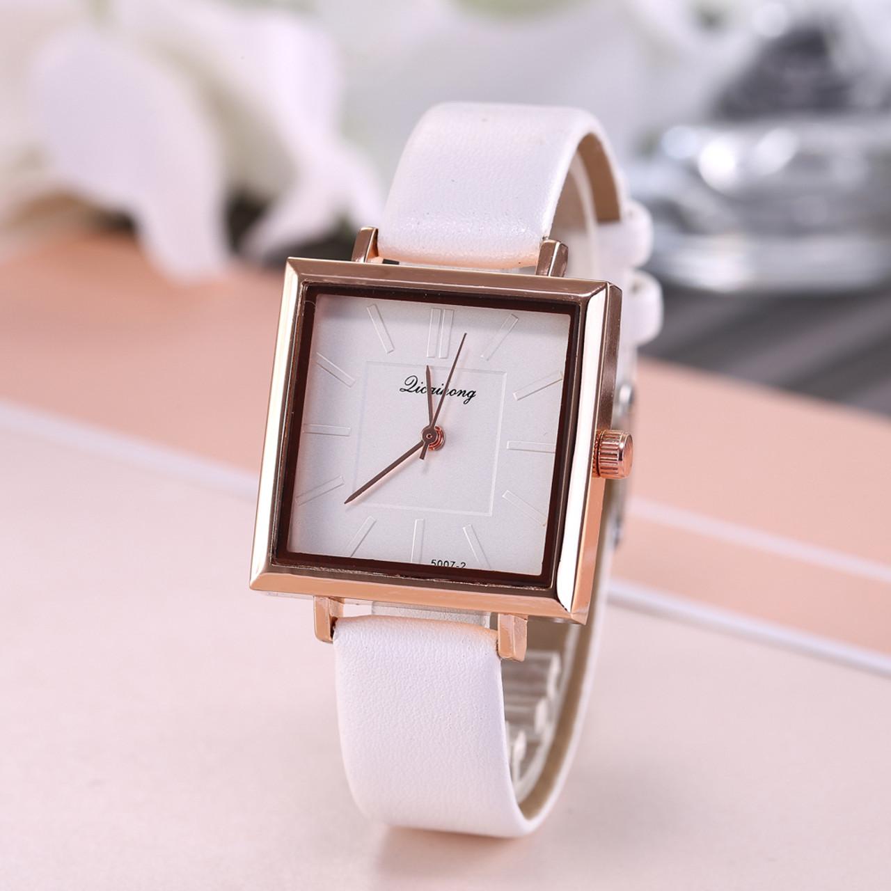 a67d7197b ... Sloggi brand luxury Women wrist Watch Korean Fashion Square Dial Watch  Women Ladies Simple Scale Quartz ...