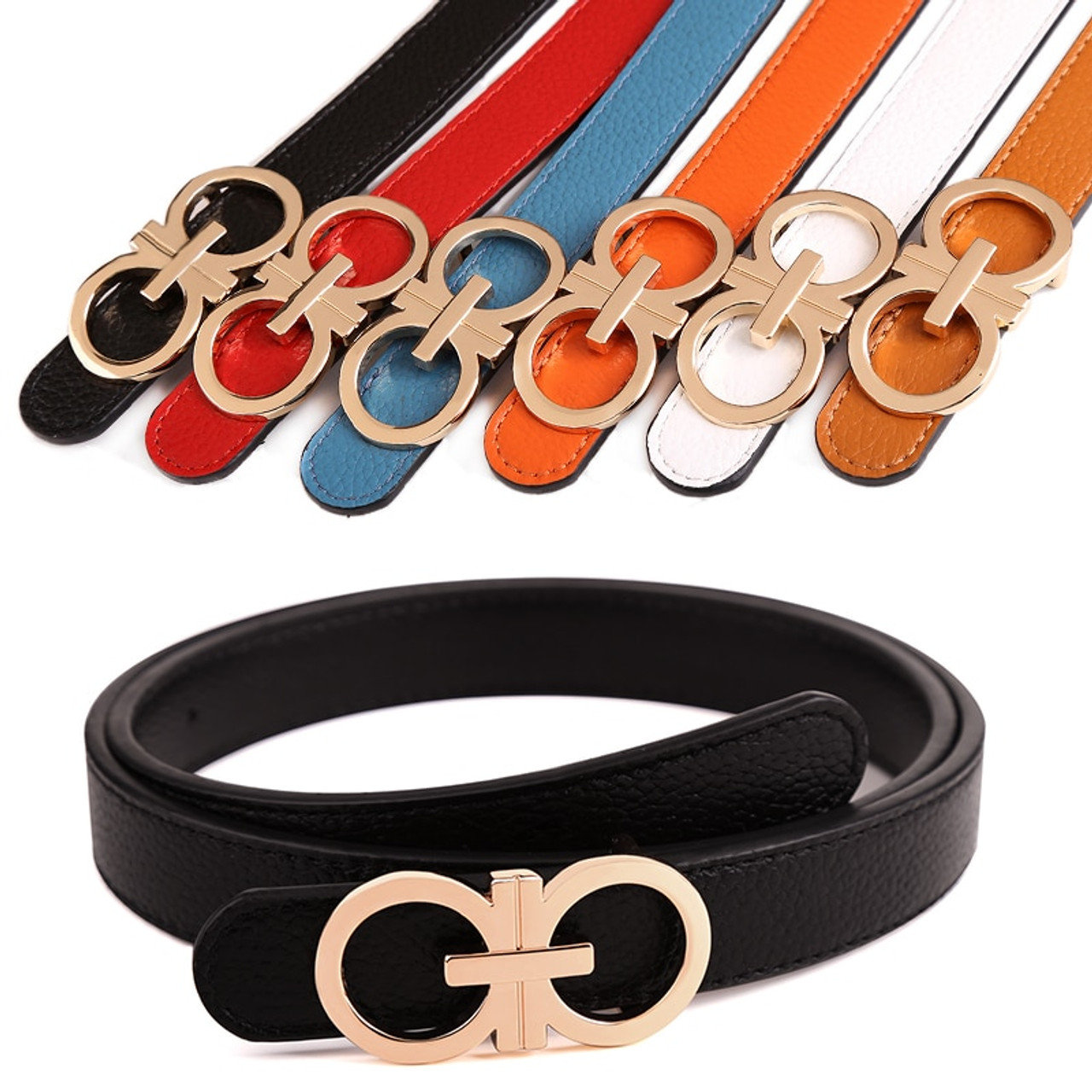 2a89354278a Designer Belts Women High Quality Luxury Brand Ceinture Femme Casual double  gg Lady Belt genuine Leather ...