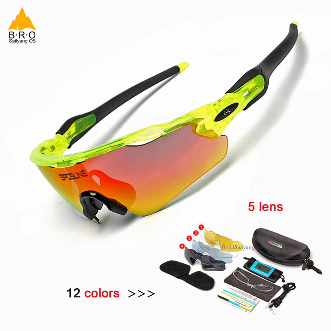 13e44a8671 Ultralight 5 Lens Polarized Cycling SunGlasses MTB Bicycle Eyewear Cycling  Glasses Mountain Racing Bike Goggles 2018 ...