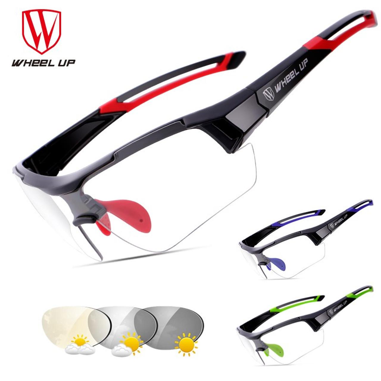52fe1cbcf2 ... WHEEL UP Photochromic Cycling Glasses Discoloration Glasses MTB Road Bike  Sport Sunglasses Bike Eyewear Anti- ...