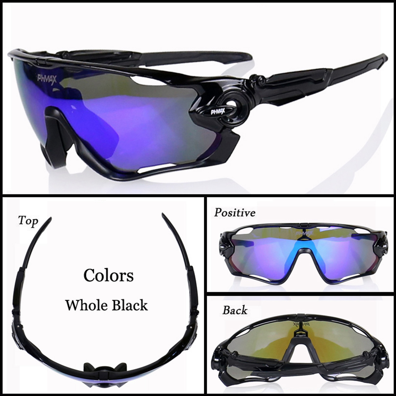 8d9710b0f8 ... PHMAX Polarized Cycling Glasses Bike Outdoor Sports Bicycle Sunglasses  Goggles 5 Groups of Lenses Eyewear Gafas ...