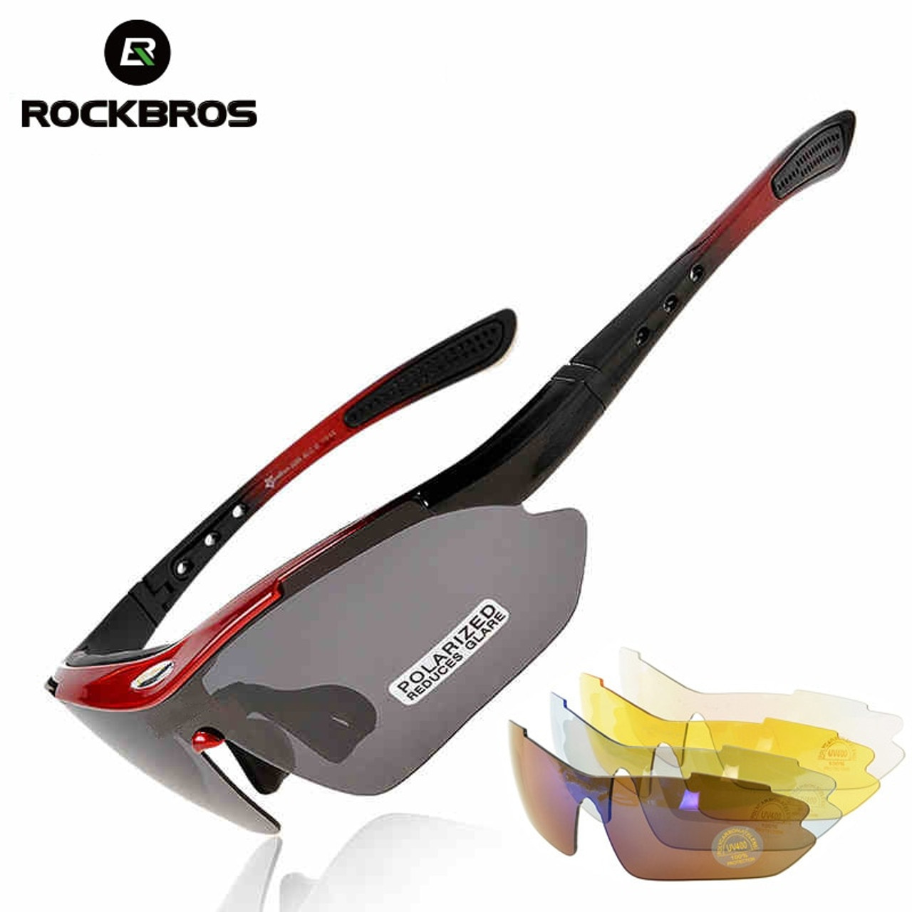 82ecbdc1a4 ROCKBROS Polarized Sports Men Sunglasses Road Cycling Glasses Mountain Bike  Bicycle Riding Protection Goggles Eyewear 5 ...