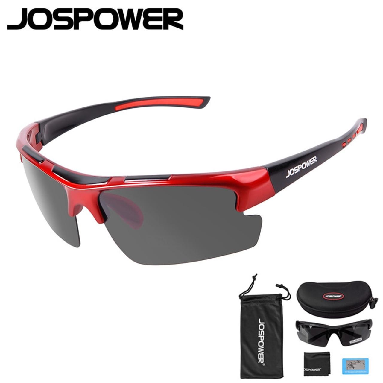 7a794bbe29 JOSPOWER New Men Women Cycling Glasses Polarized UV 400 Fishing Sunglasses  Sport Climbing Hiking Driving Eyewear ...