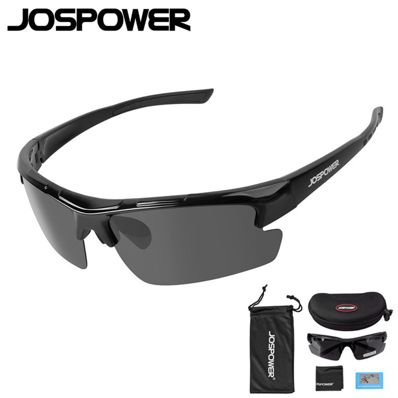3438a3a675 ... JOSPOWER New Men Women Cycling Glasses Polarized UV 400 Fishing  Sunglasses Sport Climbing Hiking Driving Eyewear ...