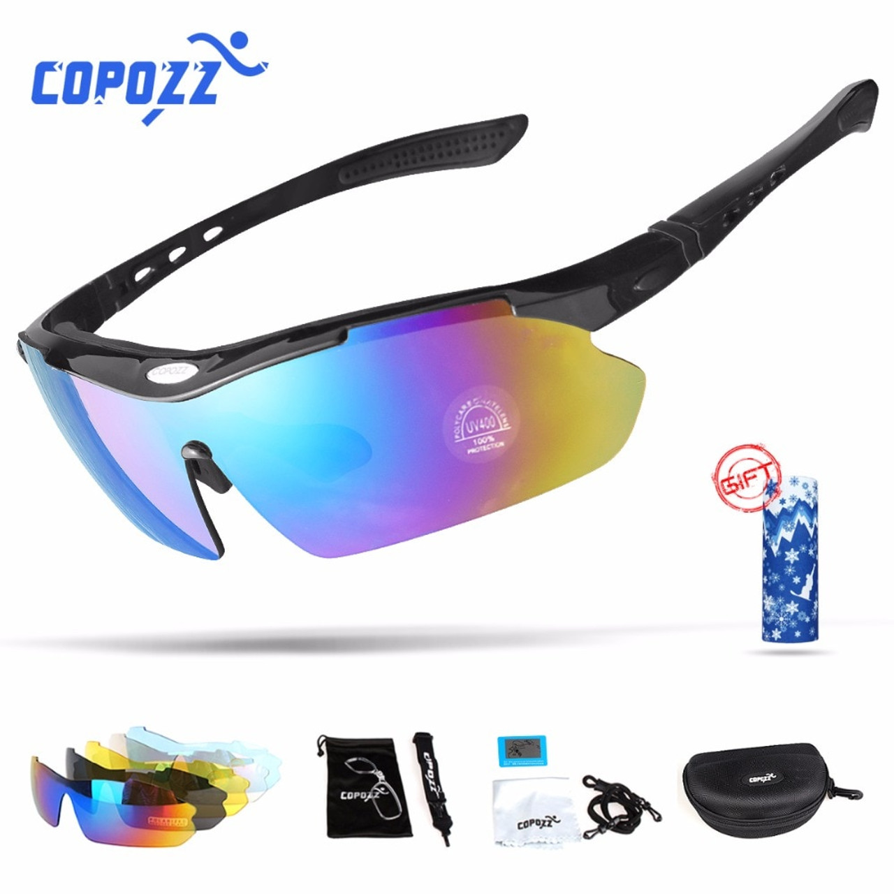 95c5c05fba Copozz Polarized Cycling Glasses Outdoor MTB Mountain Goggles Eyewear  Bicycle Sun Glasses Bike Sport Sunglasses Myopia ...