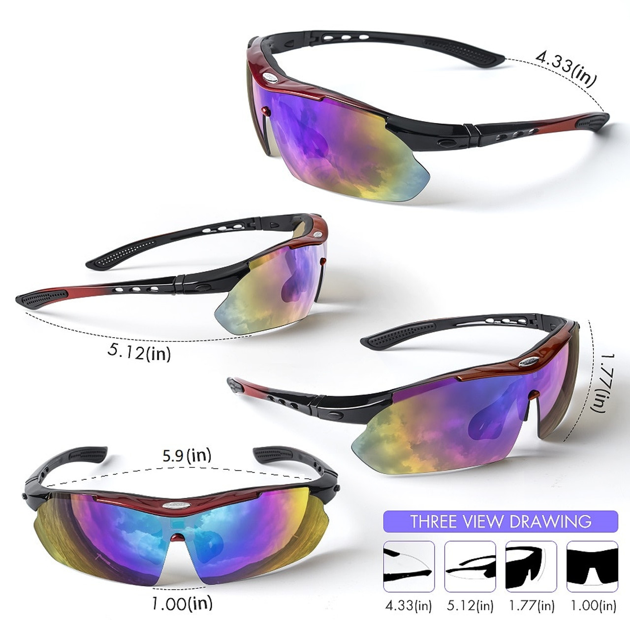 9f1b7006d7 ... Copozz Polarized Cycling Glasses Outdoor MTB Mountain Goggles Eyewear  Bicycle Sun Glasses Bike Sport Sunglasses Myopia ...