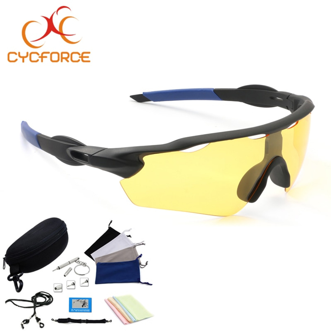 0db984ee638 CYCFORCE Polarized Cycling Eyewear Outdoor Sports Bicycle Sunglasses For Men  Women Goggles Driving Glasses Night Vision Fishing - OnshopDeals.Com