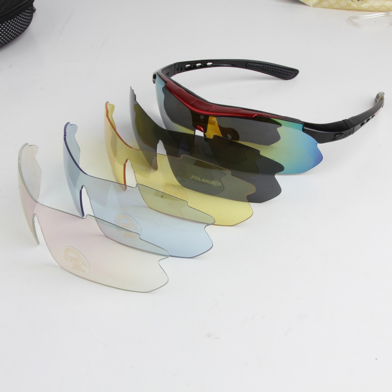 3045e78aa0 ... 2018 Polarized Cycling Glasses Bike Outdoor Sports Bicycle Sunglasses  For Men Women Goggles Eyewear 5 Lens ...