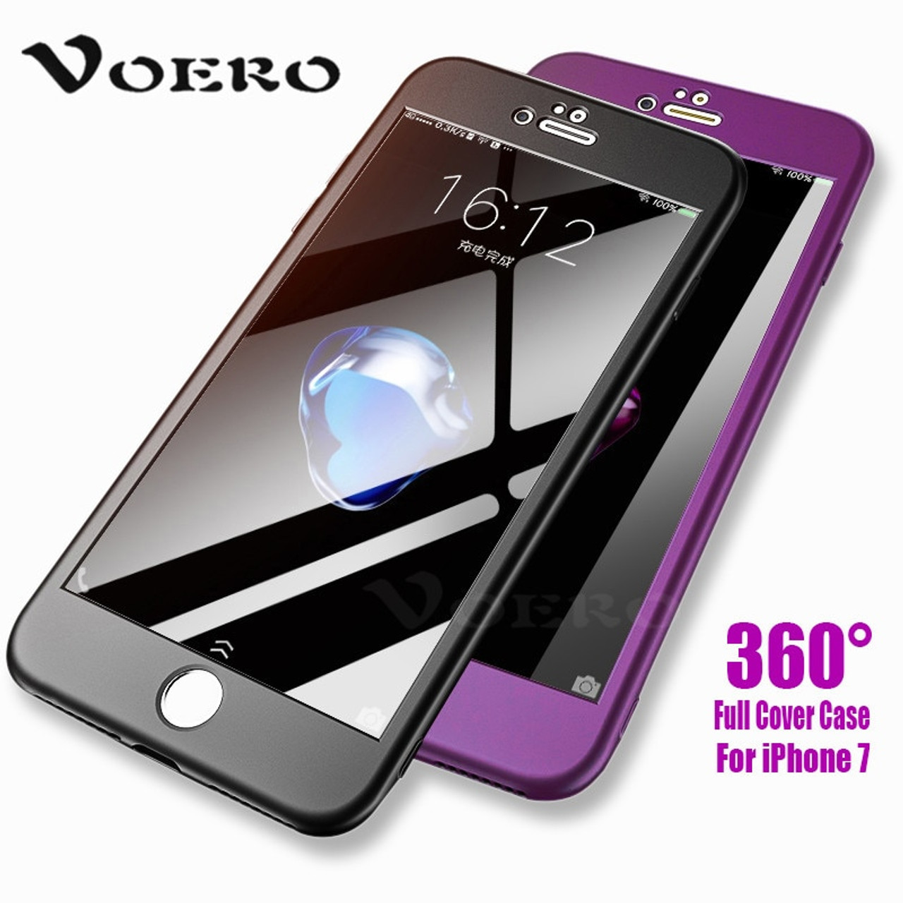 sneakers for cheap 952db a1e60 VOERO 360 Degree Full Cover Case For iPhone 6s 7 8 Plus Hard PC Plastic  Phone Cases For iPhone X 6 6s 5 5s SE Case Cover Coque