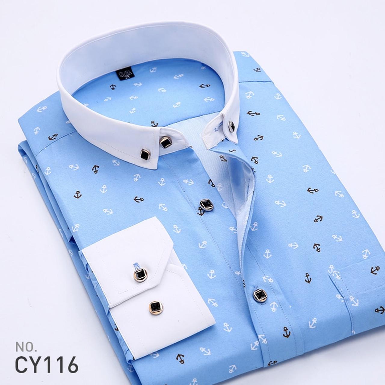 985e5901 ... 2018 Retro Floral Printed Men Casual Shirts Classic Men Dress Shirt  Men's Long Sleeve Brand New ...