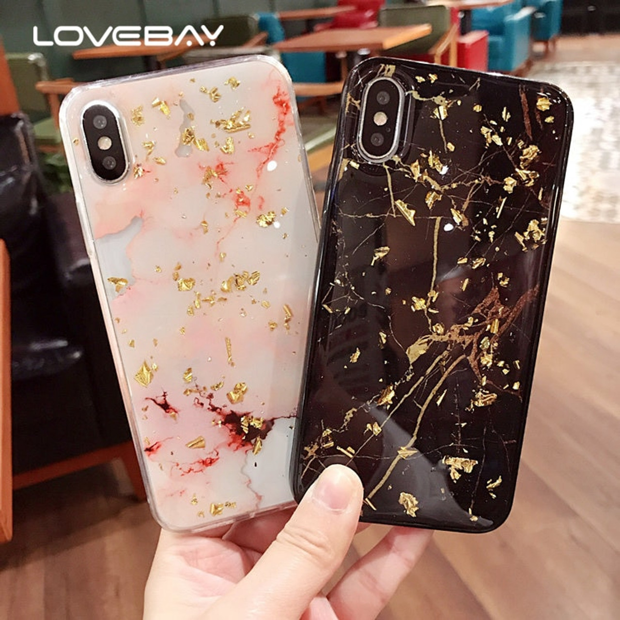 Lovebay Luxury Gold Foil Glitter Marble Stone Phone Cases For iPhone X 10 7  8 6 6S Plus Glossy Soft TPU Cover For iPhone 7 Case - OnshopDeals.Com 36fa0e94f37b
