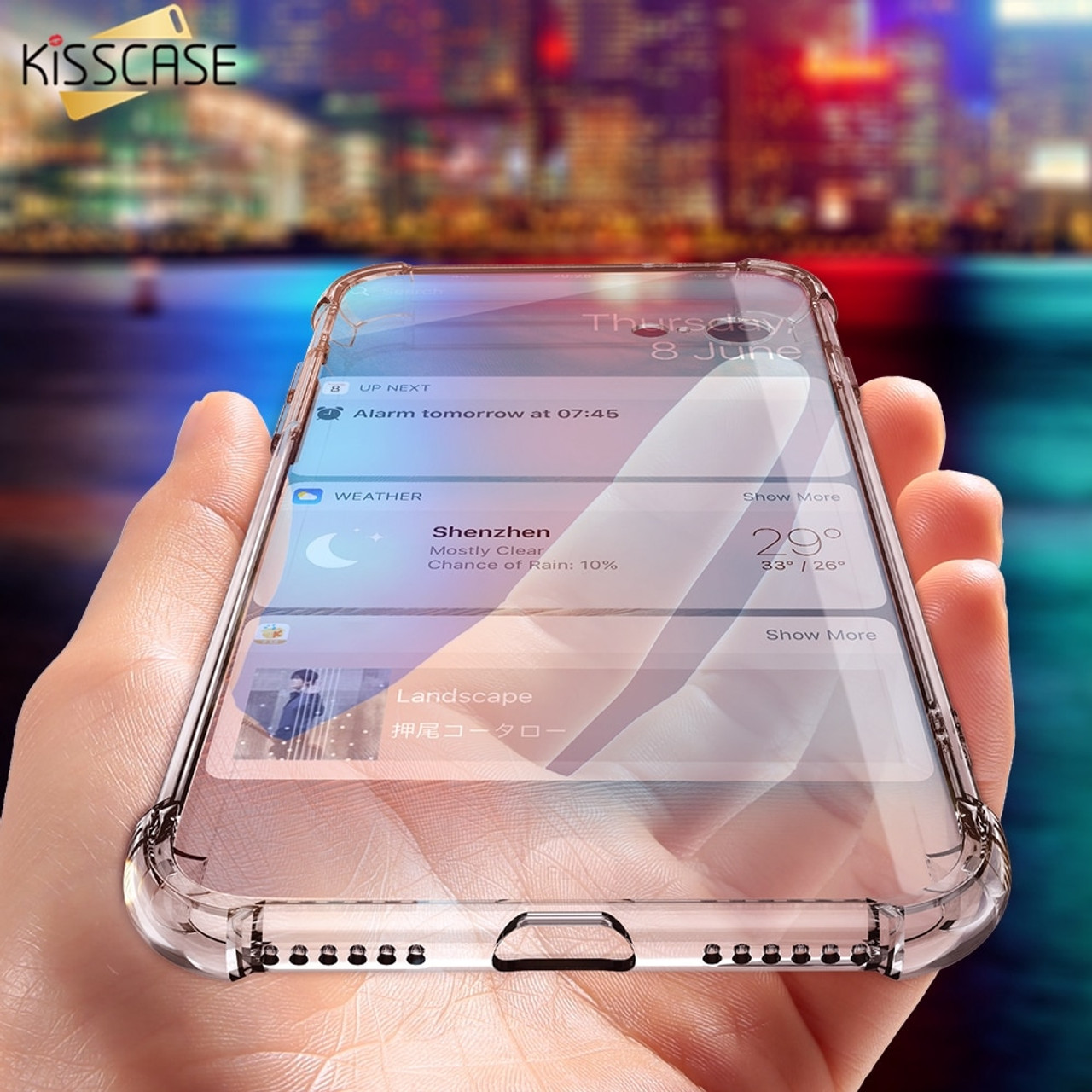 outlet store 8fdc6 b858e KISSCASE Case For iPhone X 6 7 Plus Phone Case For iPhone 8 7 9 XS Plus 5S  5 SE Clear Shockproof Soft Silicone Transparent Case
