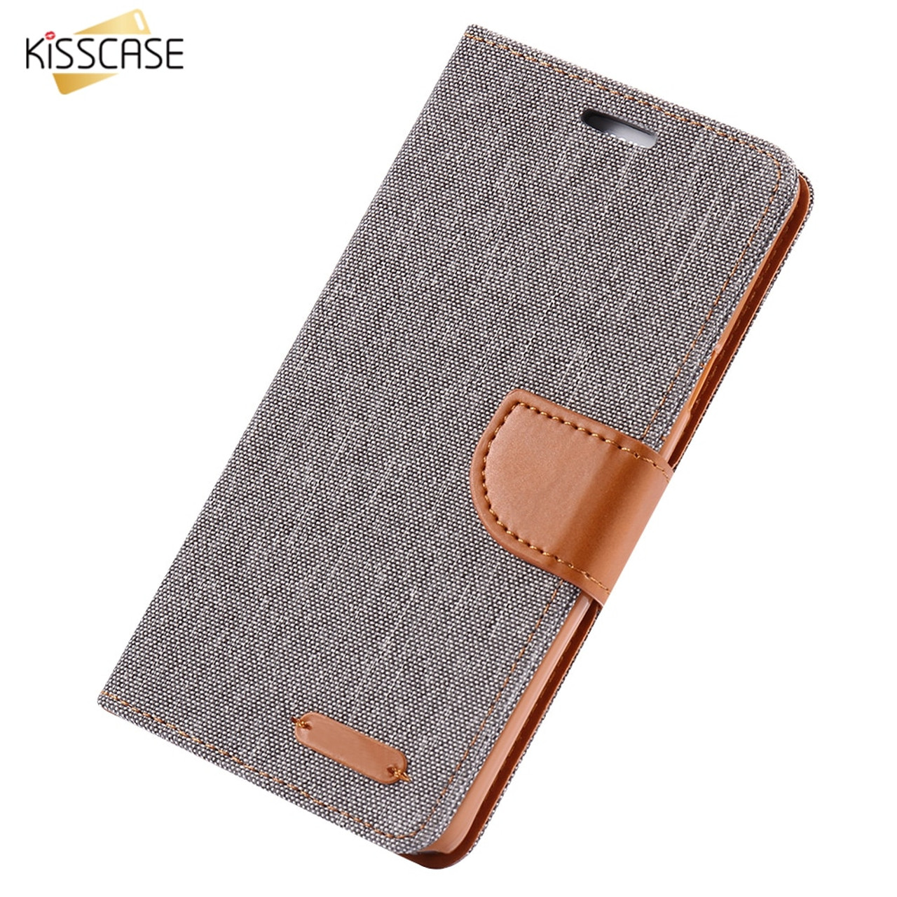 cheap for discount 72697 a594b KISSCASE Book Flip Cloth Skin Phone Case For Samsung Galaxy S8 S8 Plus S7  S7 Edge S6 Edge Note 8 Magnetic Wallet Card Slot Cover