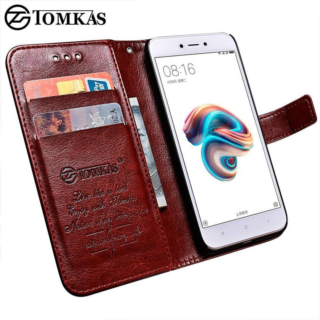 sale retailer 3e00c bd90f Tomkas Wallet Case Xiaomi Redmi 5A Case Leather PU Luxury Flip Phone Bag  Cover For Xiaomi Redmi 5A Case Coque Card Slot Holder