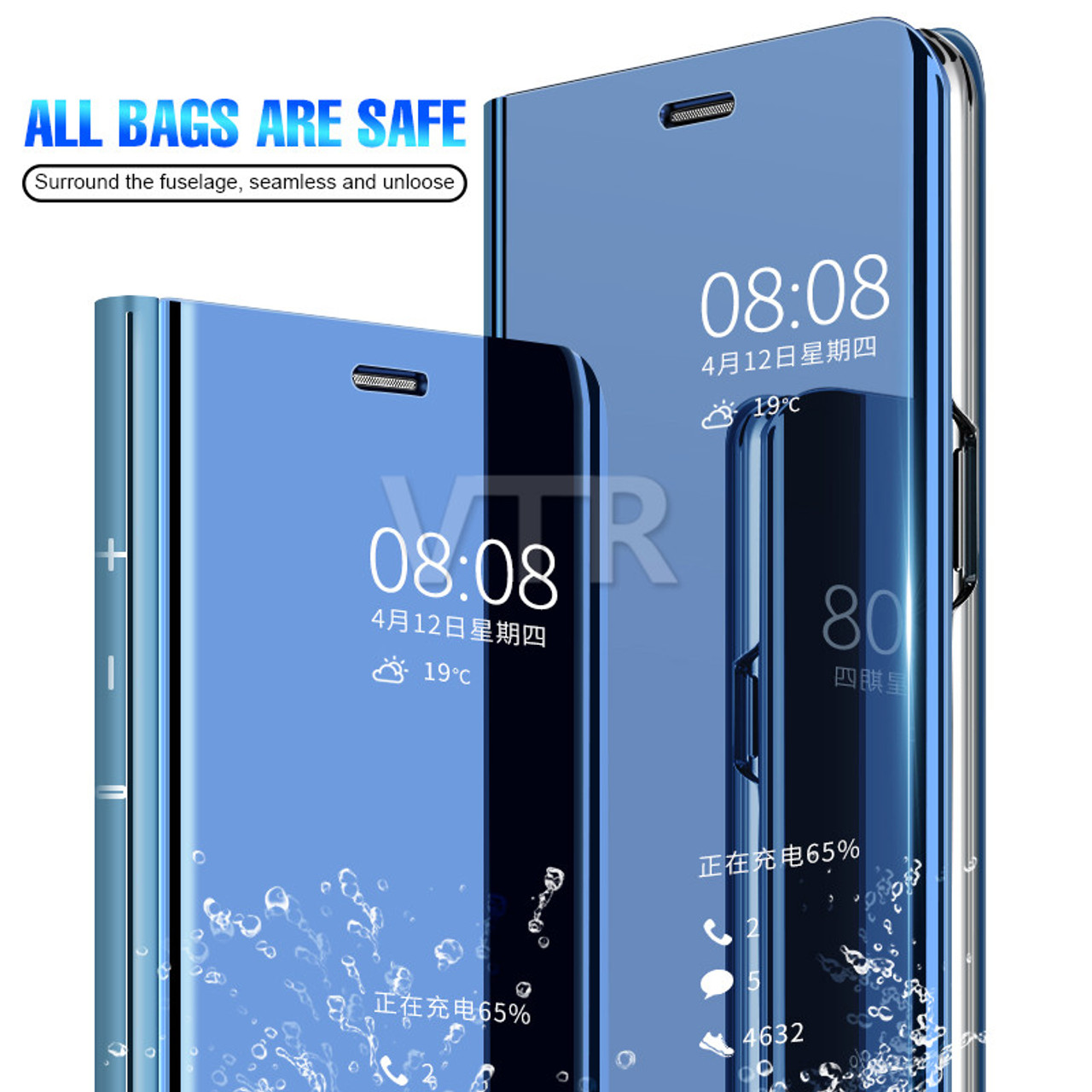 low priced e7b41 84d93 Luxury Clear View Mirror Smart Case For Huawei P20 Pro P20 Lite Flip Stand  Case Cover For Huawei Mate 10 Pro Mate 10 Lite Cover