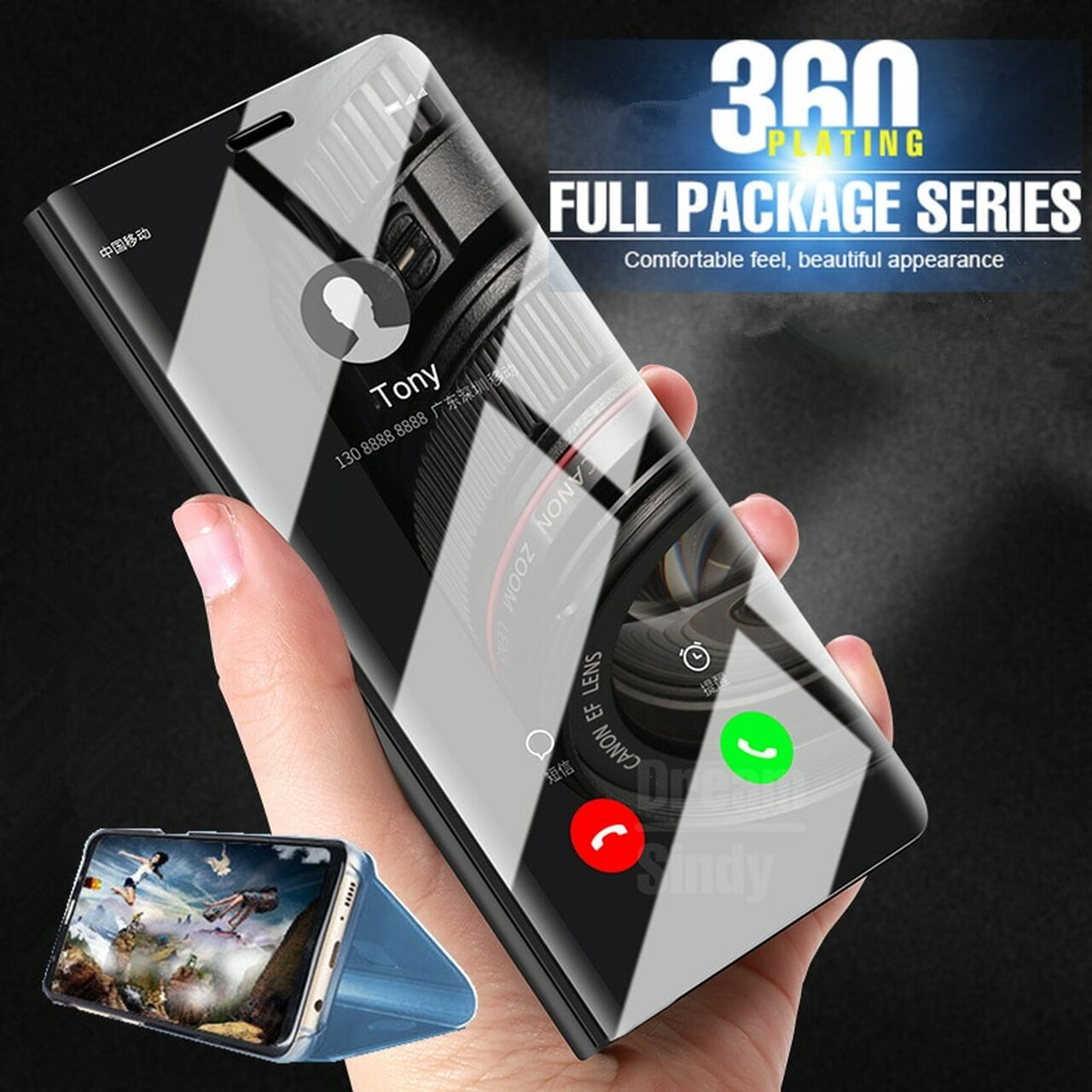 new arrivals 0a6dd 8a638 Luxury smart view Plating Flip Case For Huawei P20 Pro Mate 10 Lite Mirror  Cover For Huawei Mate 10 P20 Lite Shockproof Case