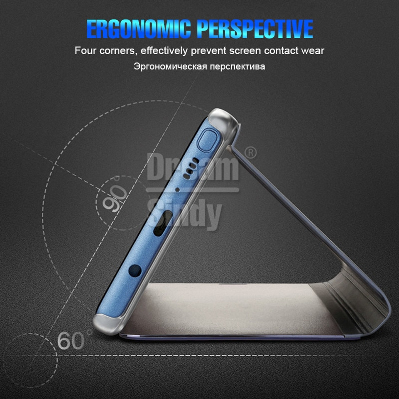 13db8bb0c5 Luxury smart view Plating Flip Case For Huawei P20 Pro Mate 10 Lite Mirror  Cover For Huawei Mate 10 P20 Lite Shockproof Case