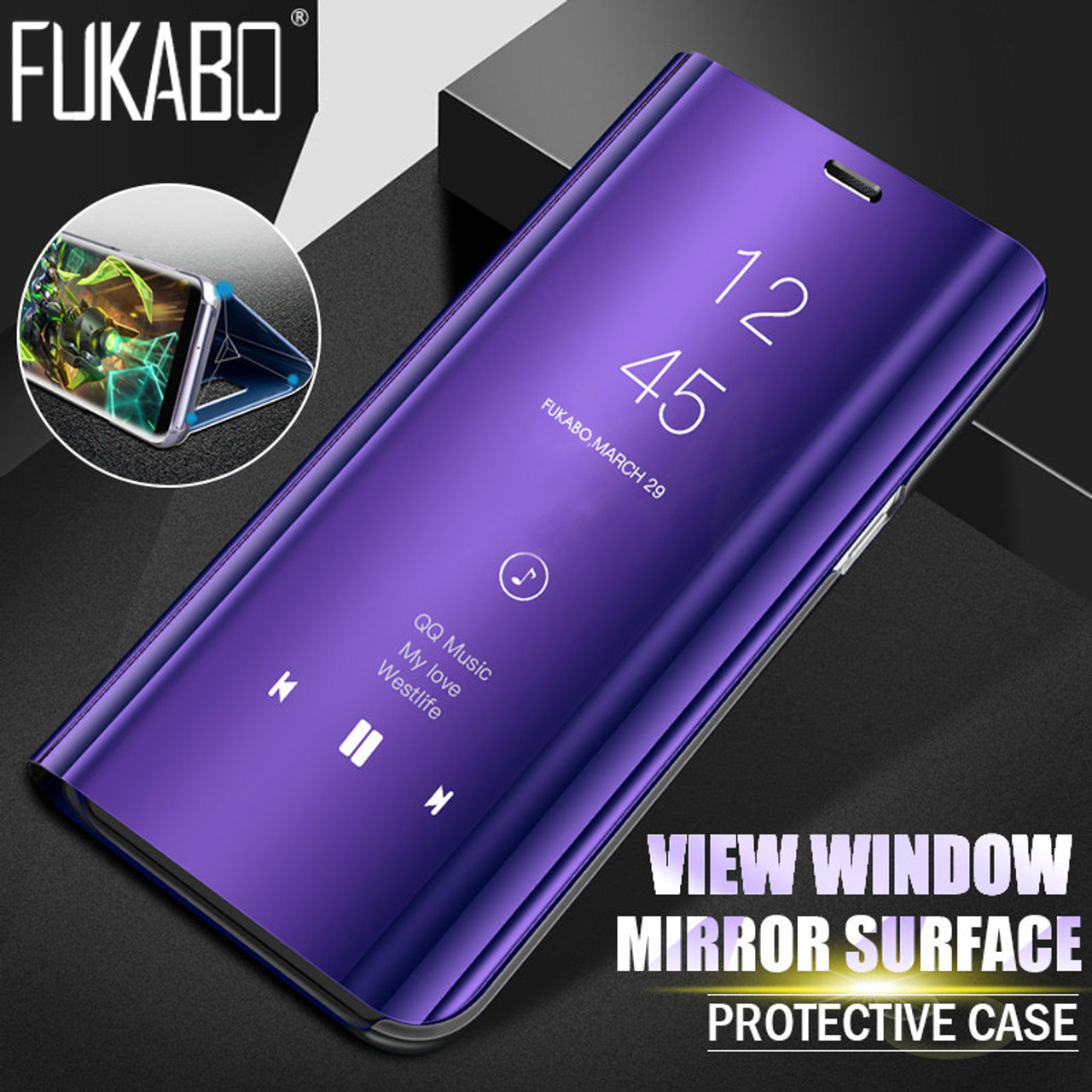 pretty nice 1599f d3b6a Clear View Mirror Smart Phone Case For Xiaomi Redmi Note 5 Pro 4X Flip  Stand Leather case For Redmi 5 Plus Full Cover Case shell