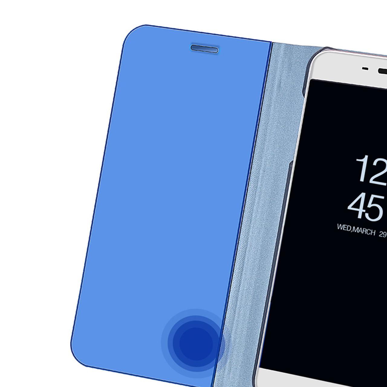 official photos ff0a1 8bfa3 Dreamysow Mirror Flip Case For Xiaomi Redmi 5 Plus Note 4 4X 5A Pro 32GB  64GB Mi A1 5X PU leather Clear View Phone Stand Cover