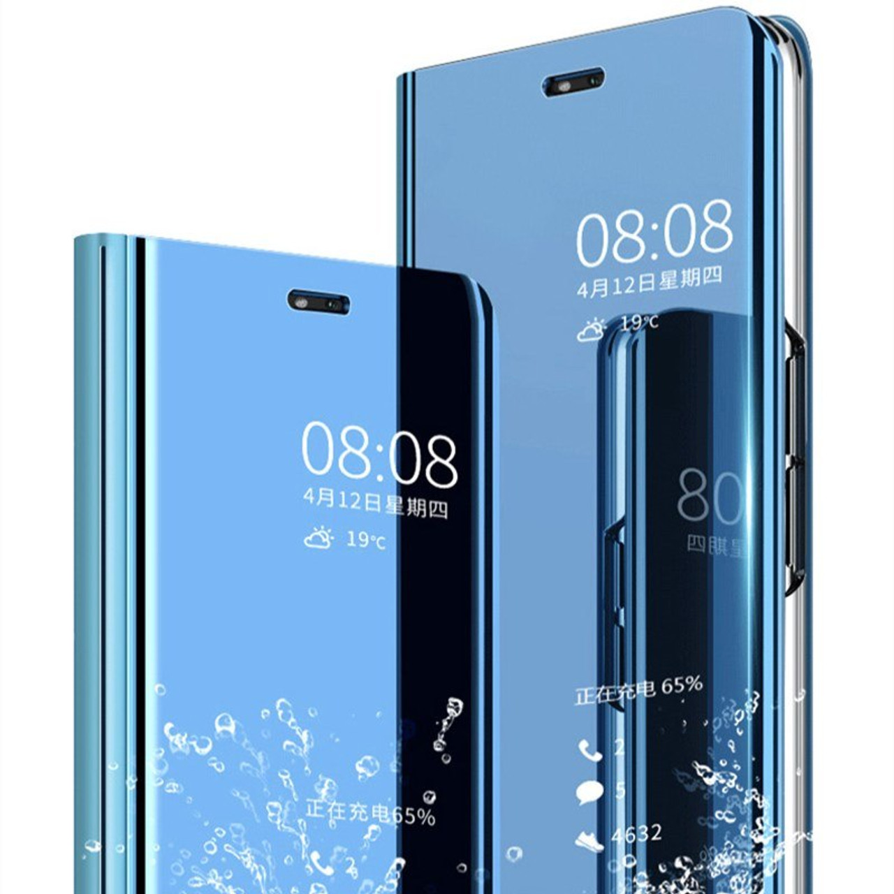 best cheap 88194 a1358 Clear Smart View Mirror Case For Huawei P20 Lite Pro Flip Cover For Huawei  P Smart Hornor 8 9 10 Lite 7A 7C Pro Y5 Y6 Y7 Y9 2018