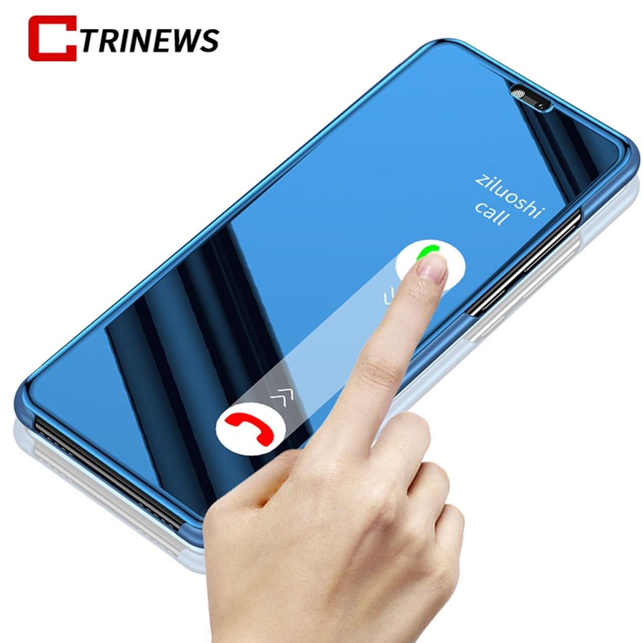 purchase cheap 37f84 4e859 Smart Mirror Case For Huawei P20 P20 Pro P10 P10 lite P9 P8 Lite 2017 Clear  View Flip Leather Cover Mate 10 Mate 9 Phone Case