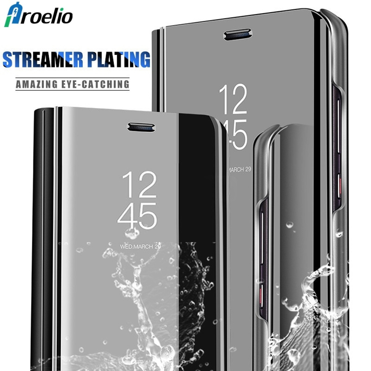 big sale cheap for discount on feet at Proelio Smart Mirror Clear View Phone Cover For Huawei Mate 10 Lite Mate 8  9 Leather Flip Case For Huawei Mate 10 Pro Case Coque