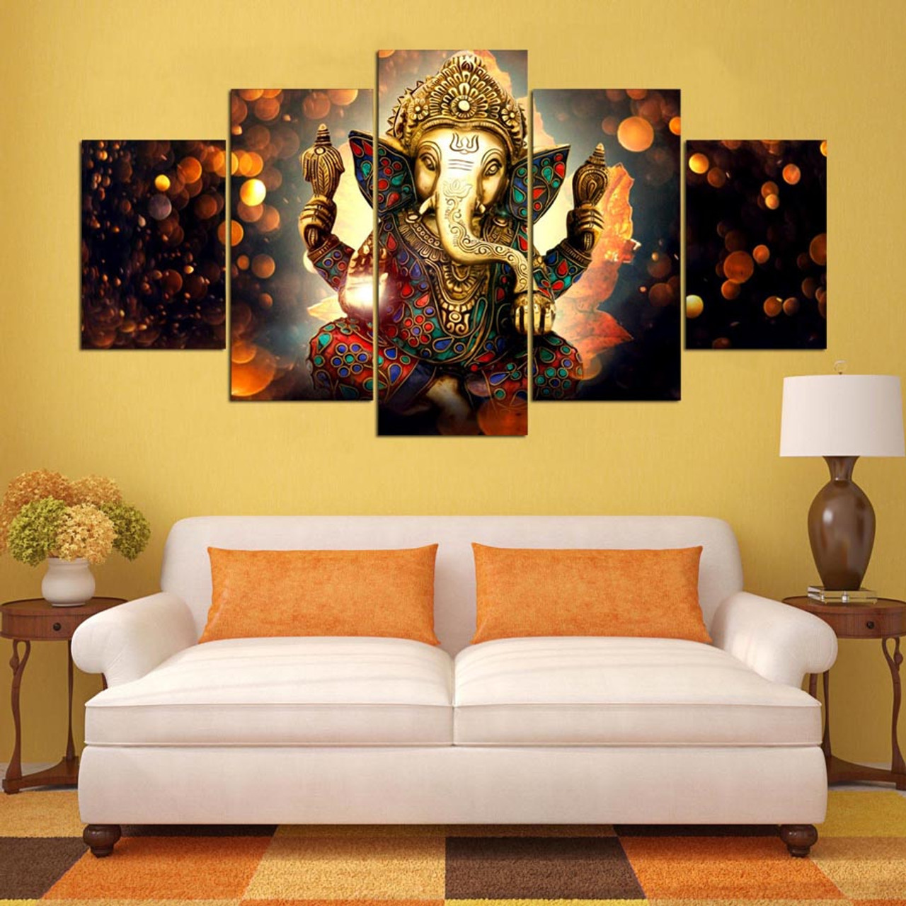 Canvas Painting Wall Art Home Decor Frame 5 Pieces Ganesh Elephant Trunk God For Living Room Modern Hd Printed Landscape Picture Onshopdeals Com