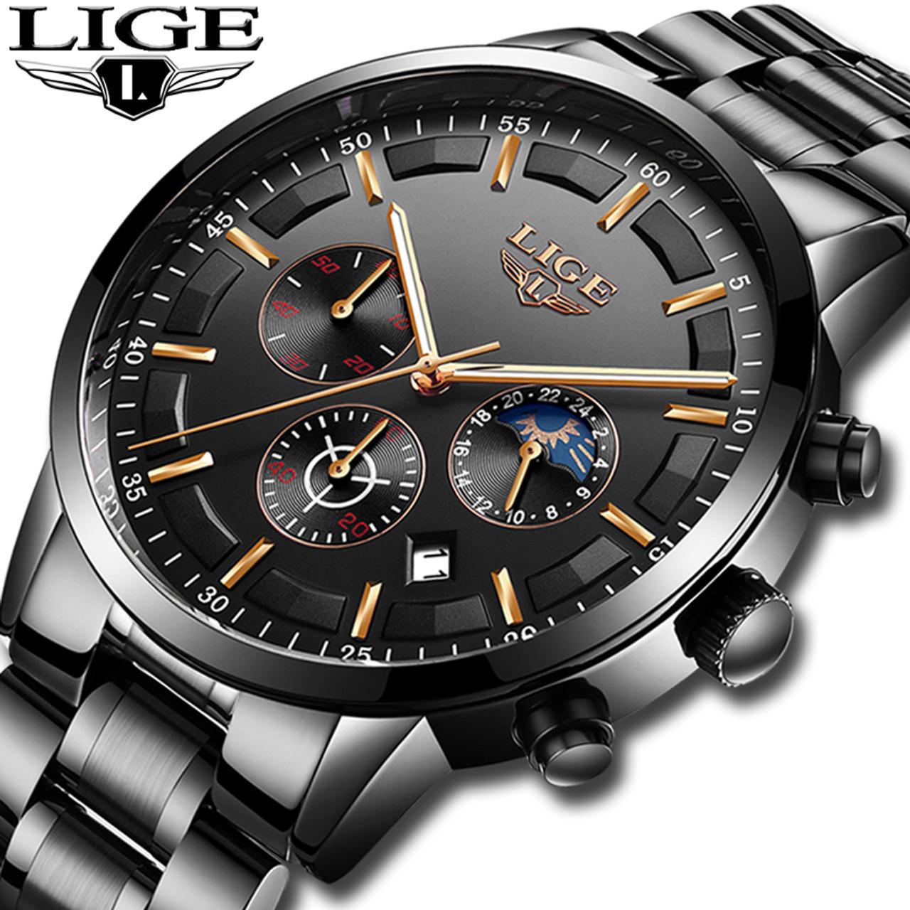 eb417f6dea4 Relojes 2018 Watch Men LIGE Fashion Sport Quartz Clock Mens Watches Top  Brand Luxury Business Waterproof Watch Relogio Masculino - OnshopDeals.Com