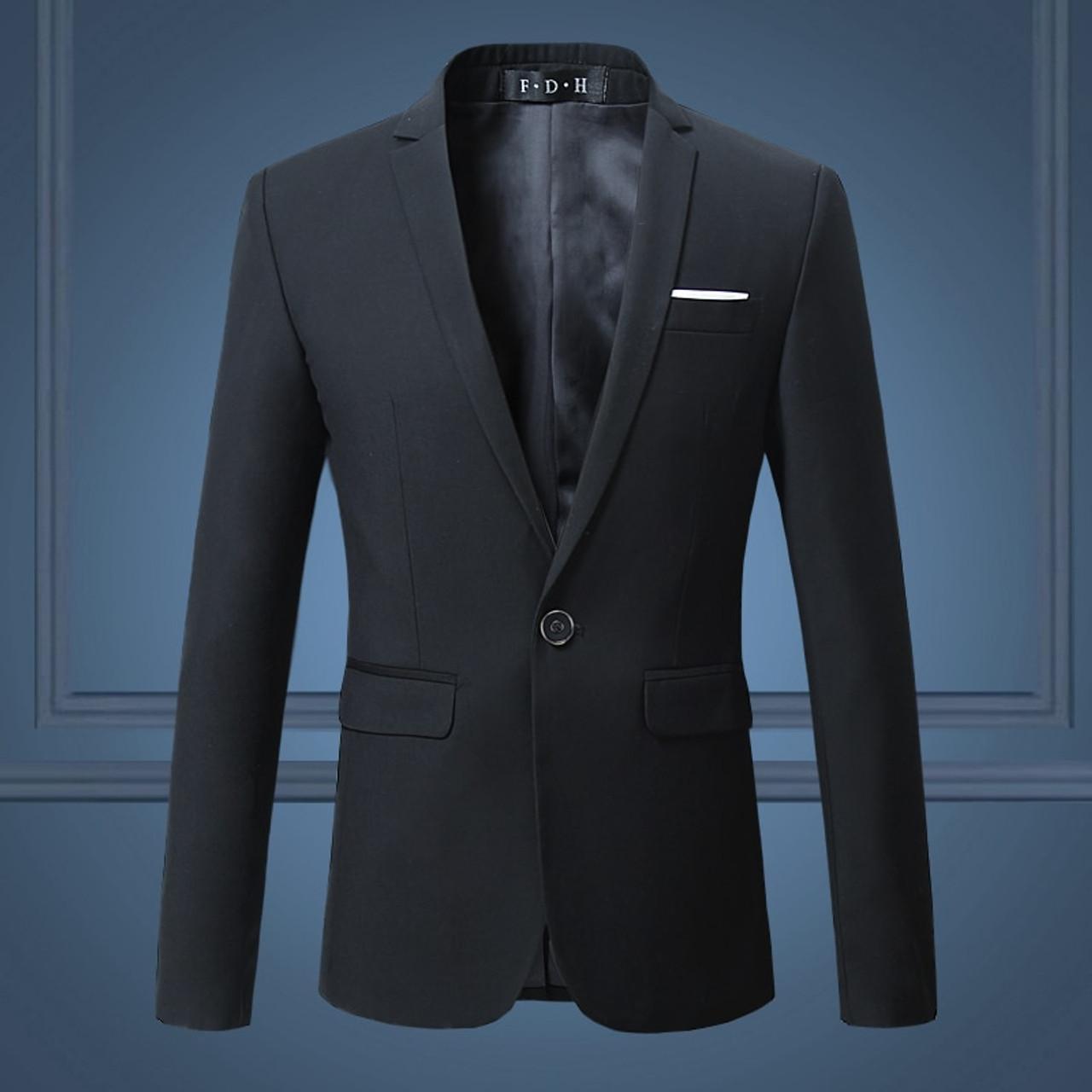 Black Classy Men S Blazer Jacket One Button Slim Wedding Suit Men Solid M 3xl Mens Casual Blazers White Customizable Big Size Onshopdeals Com,David Tutera Disney Wedding Dresses
