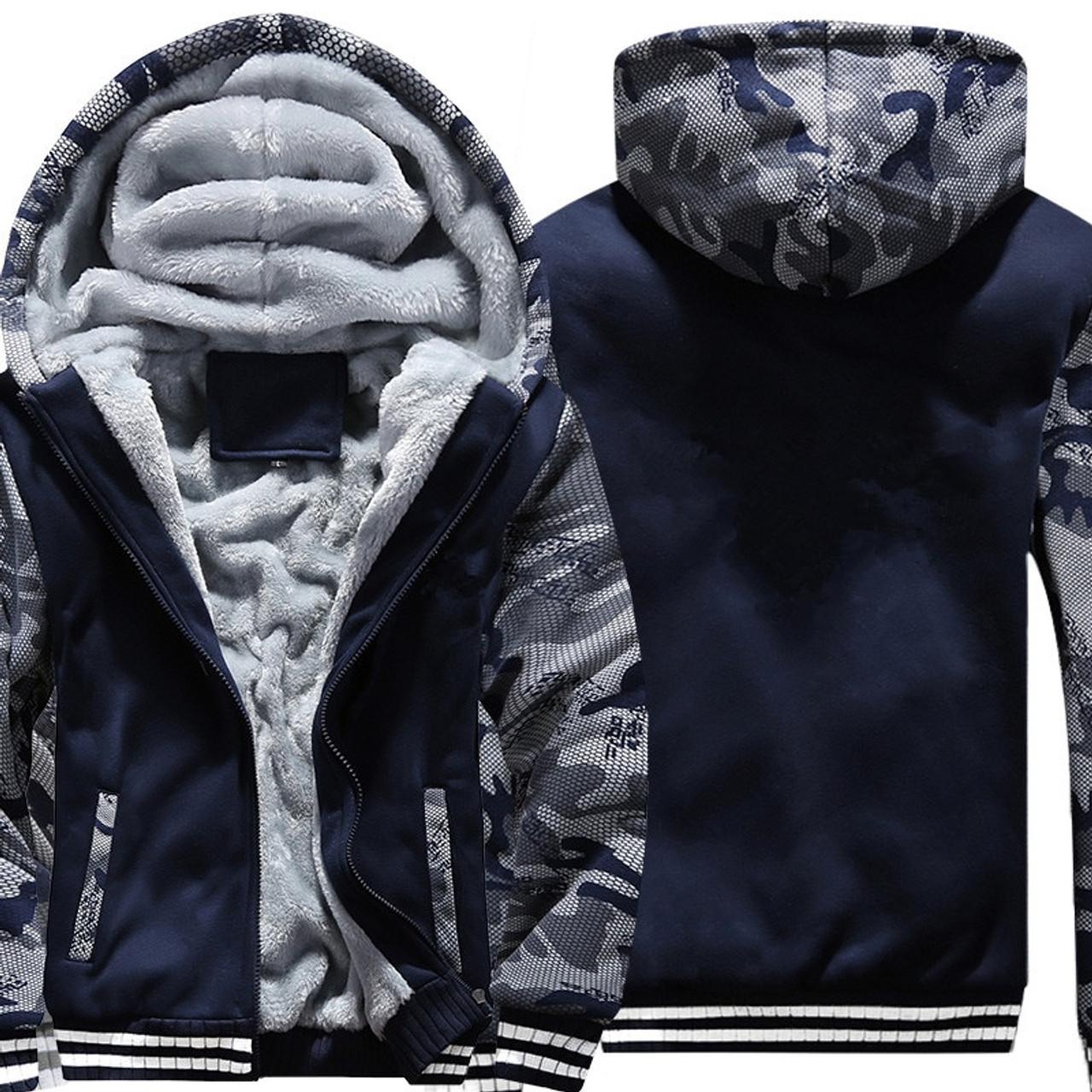 0f57afcda2dd US/EU SIZE Super Warm Hoodies Sweatshirts for Men Winter Thick Fleece Men's  Jackets Casual ...