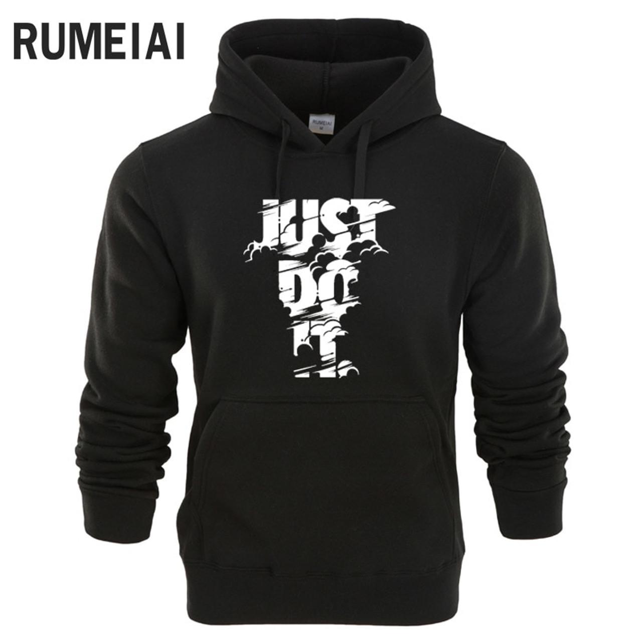 d924aa1965 RUMEIAI hoodie Men Letter 3D print Hip Hop Sweatshirt fashion Mens hoodie  2017 brand Winter Cotton pullover male hoody Moleton