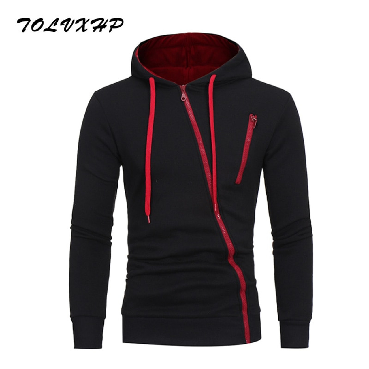 Tolvxhp Brand 2019 Hoodie Oblique Zipper Solid Color Hoodies Men Fashion Tracksuit Male Sweatshirt Hoody Mens Purpose Tour 3xl Hoodies & Sweatshirts