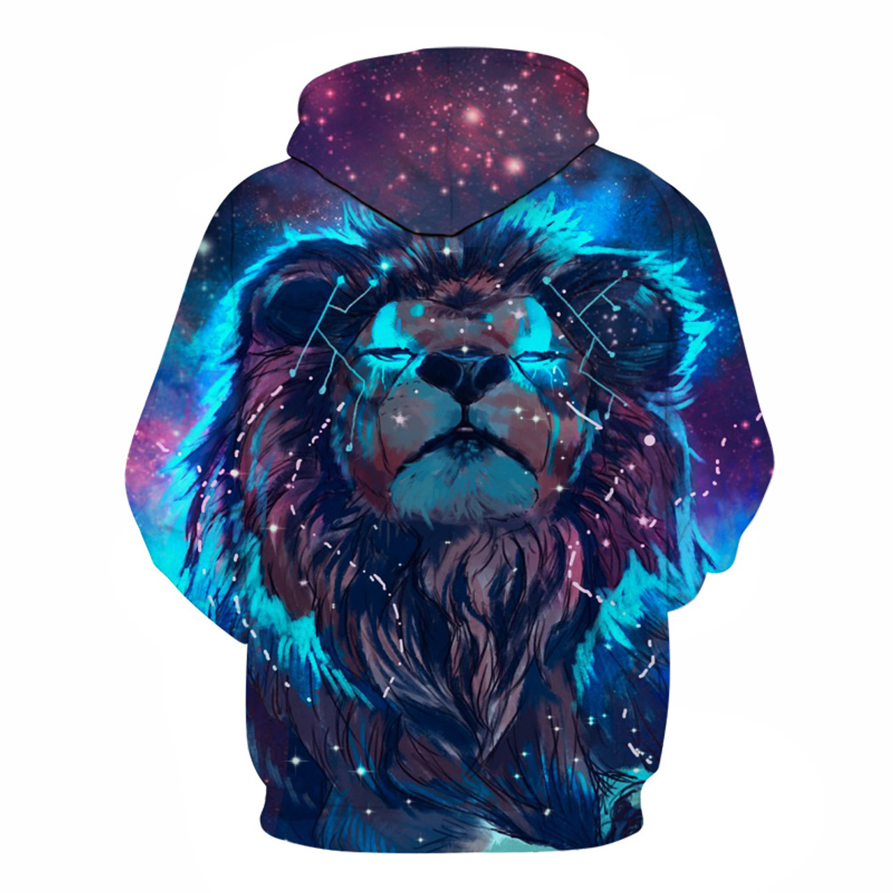 a1782809d7ef ... Lion Constellation Printed Hoodies 3D Men Women Hooded Pullover 6XL  Sweatshirts Casual Pocket Outwear Novelty Coat ...