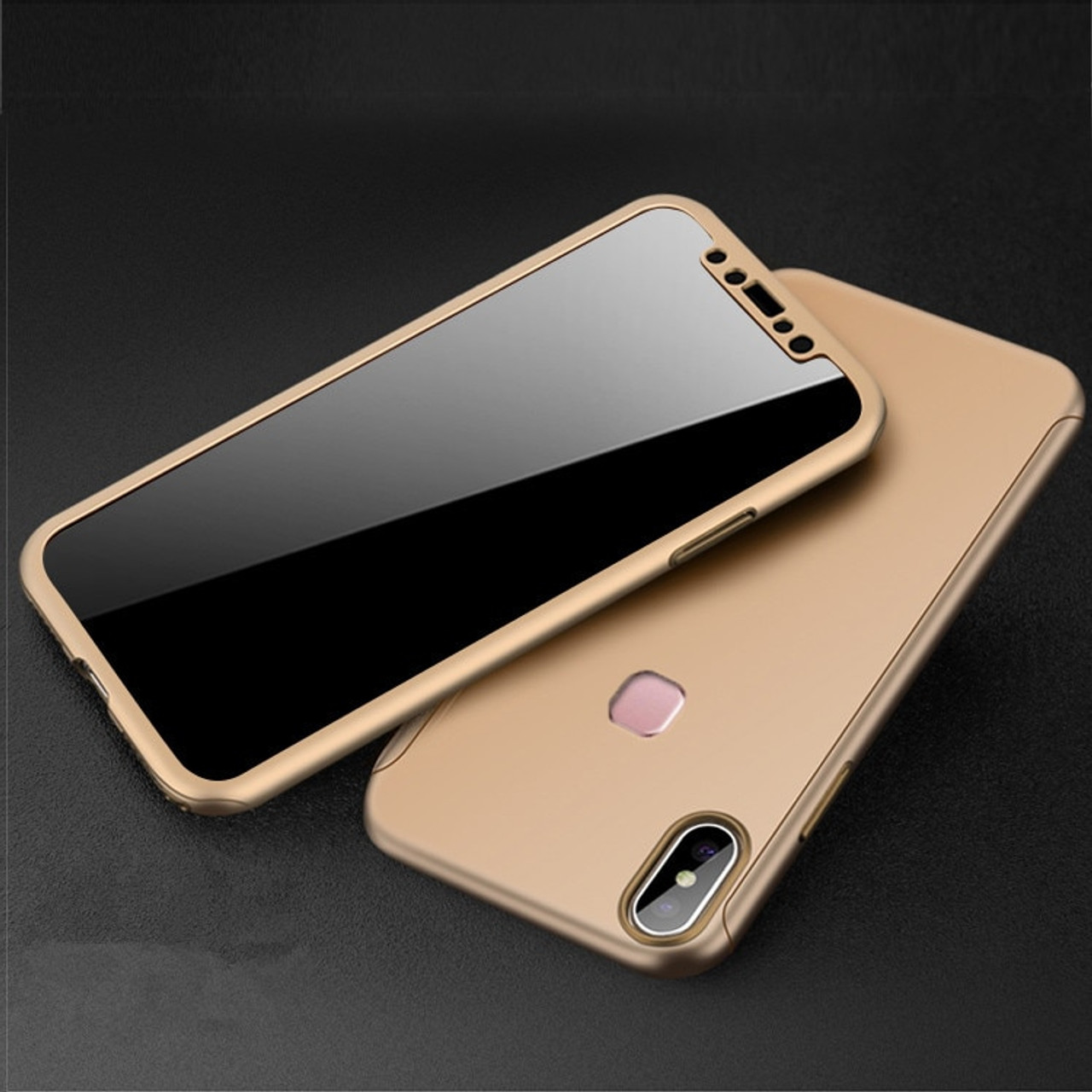 check out 5e468 68492 360 Full Cover Case for Vivo V9 Vivo Y85 Case Phone Back Cover Funda with  Tempered Glass