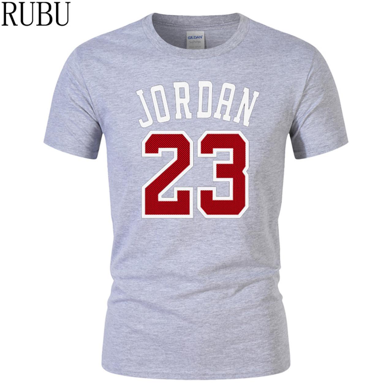 b4d51c30e2 ... RUBU summer Hot Sale New Tee Jordan 23 Print Men Swag T-Shirt Top  Quality ...