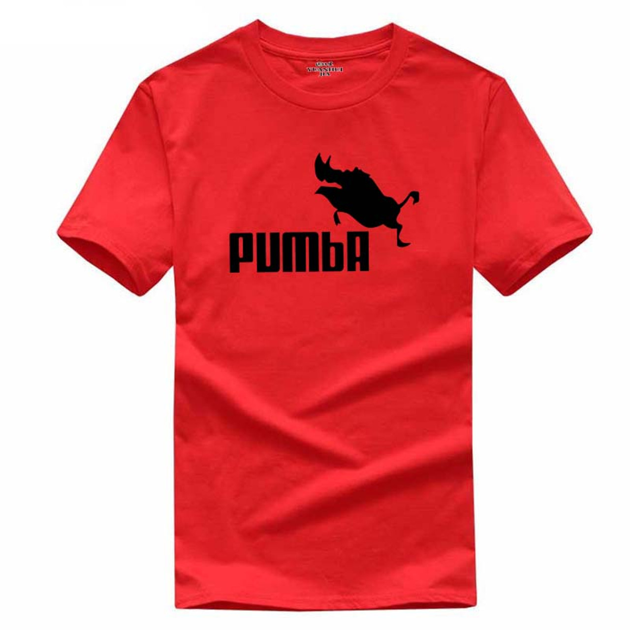 cb6022f7e ... 2018 funny tee cute t shirts homme Pumba men short sleeves cotton tops  cool tshirt lovely ...