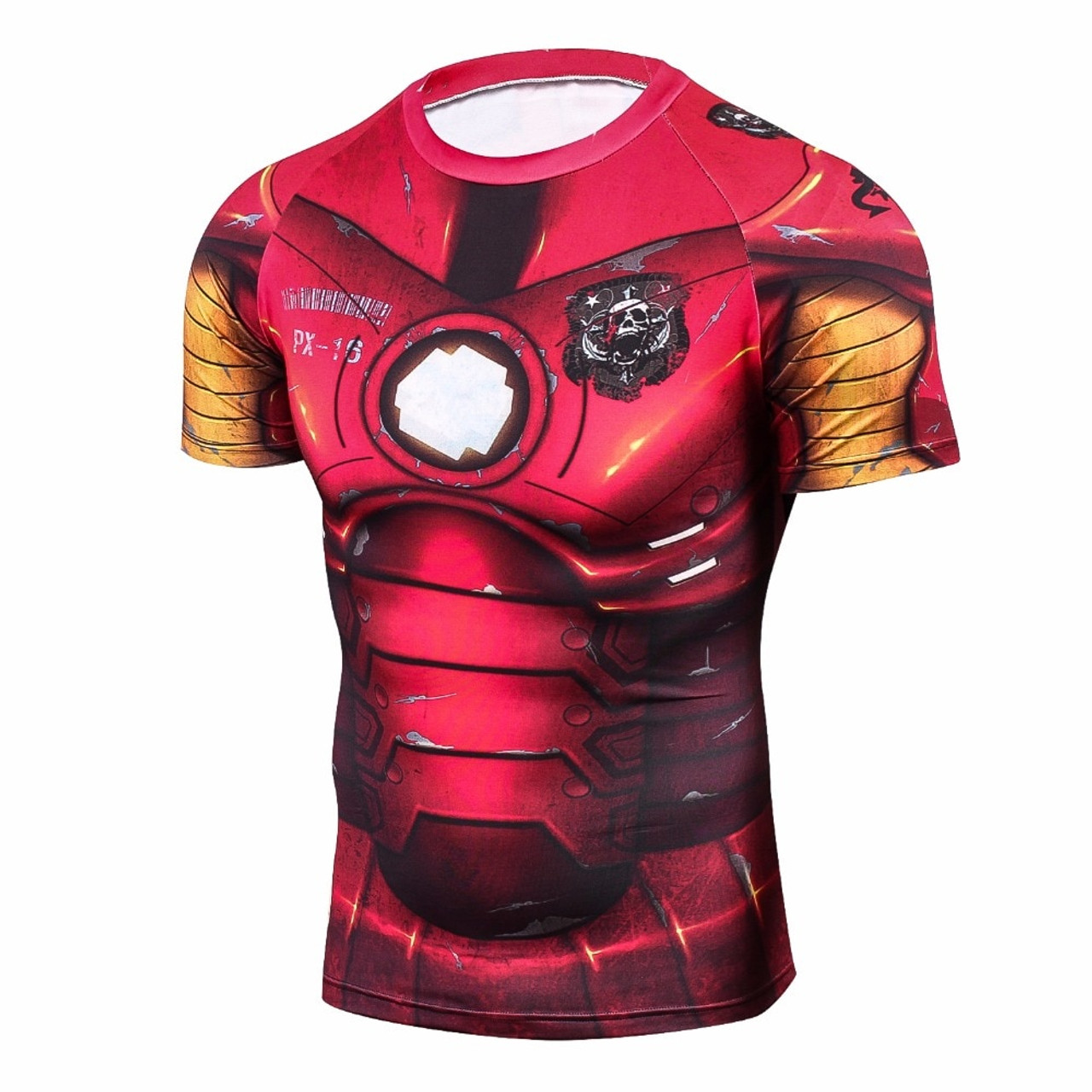 Short Sleeve Thor Compression Workouts Shirt Mens
