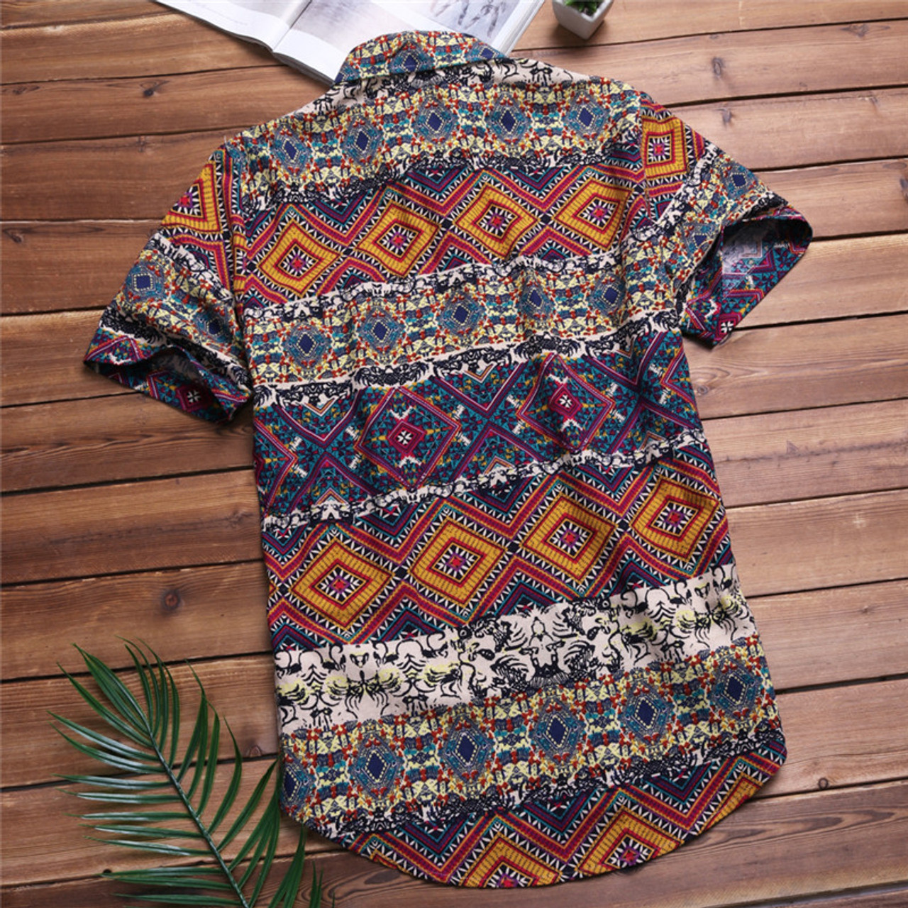 f750feb75364 ... Mens Beach Hawaiian Shirt Tropical Summer Short Sleeve Shirt Men Brand  Clothing Casual Loose Cotton Button ...
