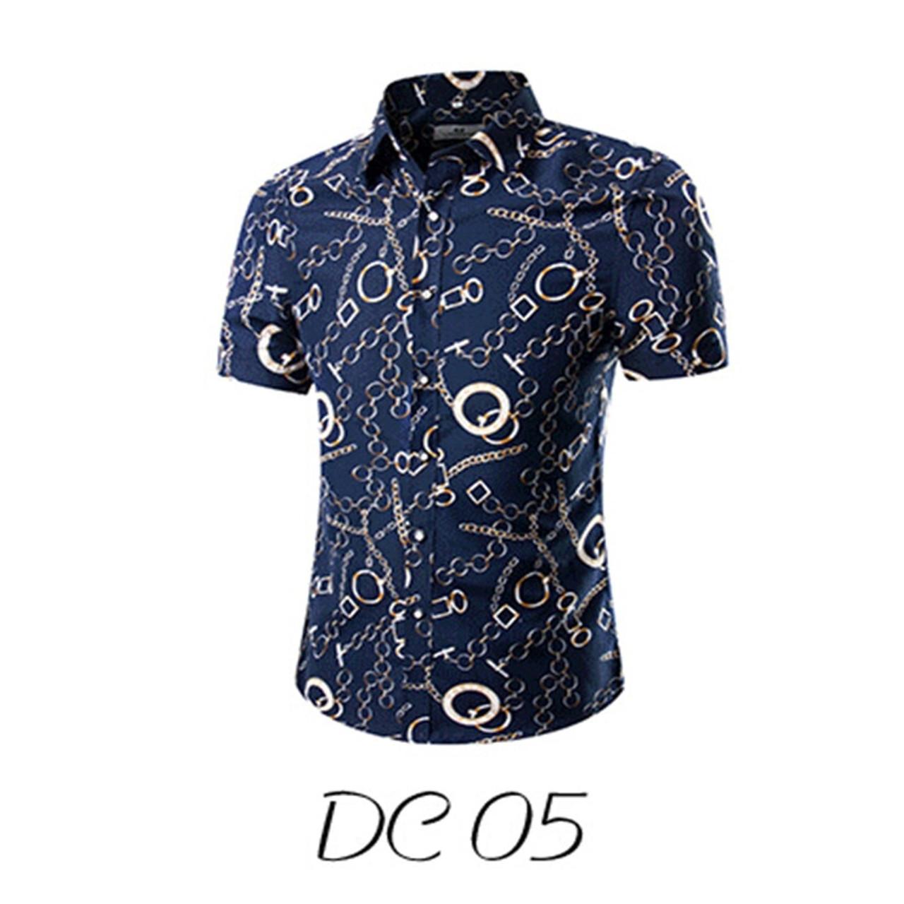 37a9cbc1a ... 2018 Fashion Mens Short Sleeve Hawaiian Shirt Summer Casual Floral  Shirts For Men Asian Size M ...