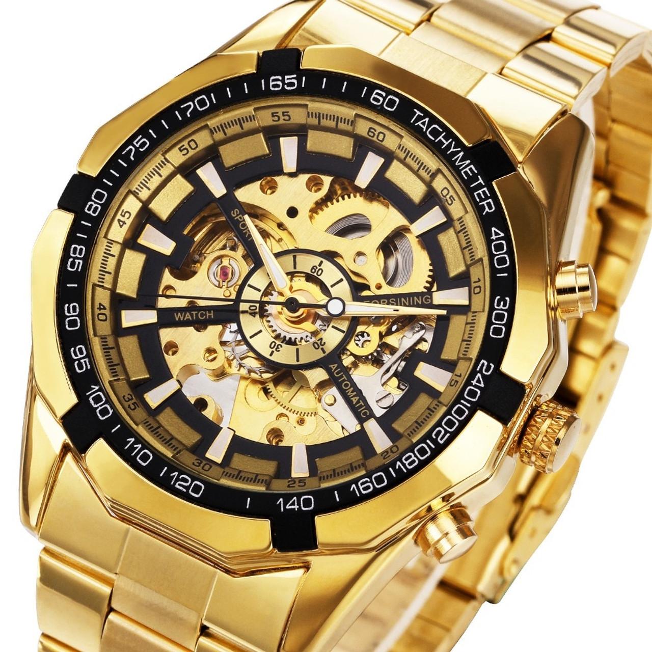 Winner Watch Men Skeleton Automatic Mechanical Watch Gold Skeleton Vintage Man  Watch Mens FORSINING Watch Top Brand Luxury - OnshopDeals.Com 4857764f151