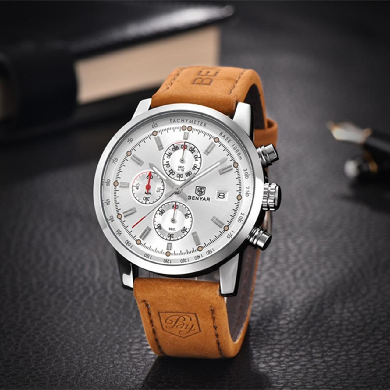 9b1feddb1b9 ... 2017 BENYAR Watches Men Luxury Brand Quartz Watch Fashion Chronograph  Sport Reloj Hombre Clock Male hour ...