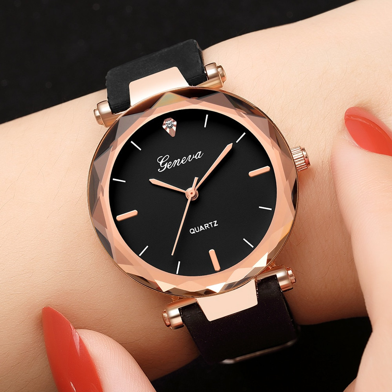 561b3d221a7d relojes mujer Fashion ladies wrist watches Womens clock Round glass silicone  strap wrist watch for women ...