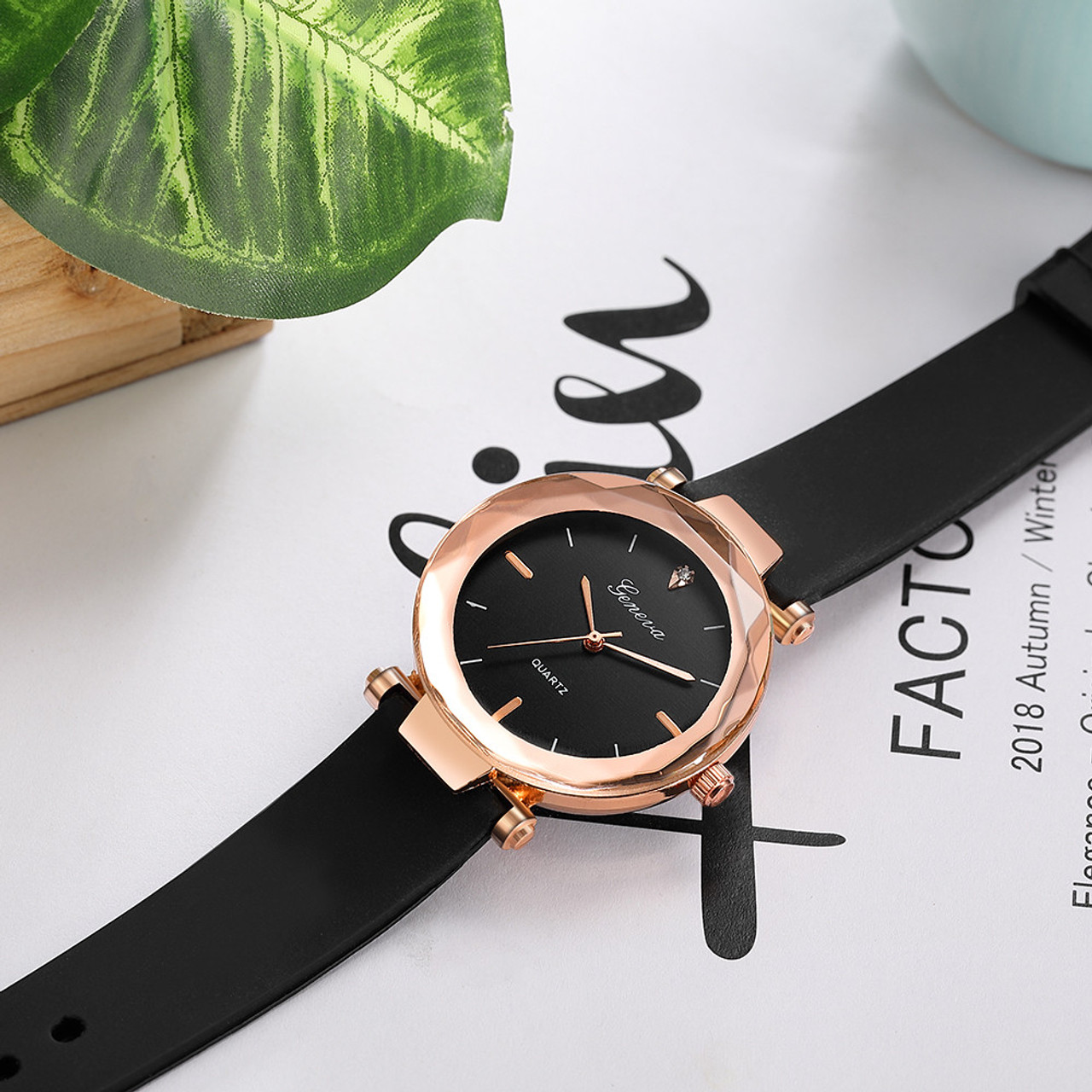 7d5bdc2b5a79 ... relojes mujer Fashion ladies wrist watches Womens clock Round glass  silicone strap wrist watch for women ...