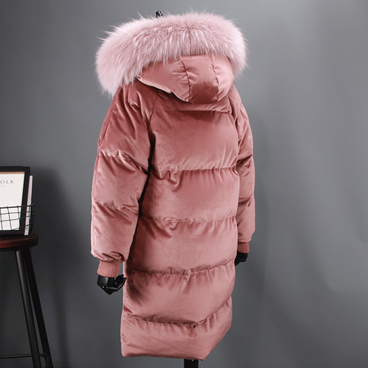 e87fc50c70a ... Fitaylor Women Duck Down Parkas Winter Large Real Fur Collar Warm  Hooded Velour Jacket Coats Snow ...