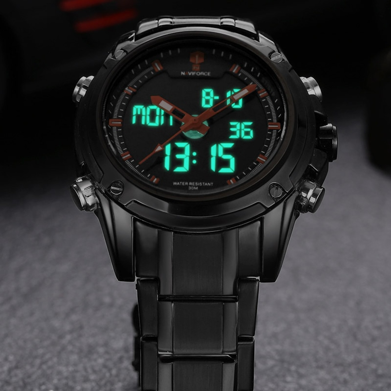 24f5f341b ... Top Men Watches Luxury Brand Naviforce Men's Quartz Hour Analog LED  Sports Watch Men Army Military ...