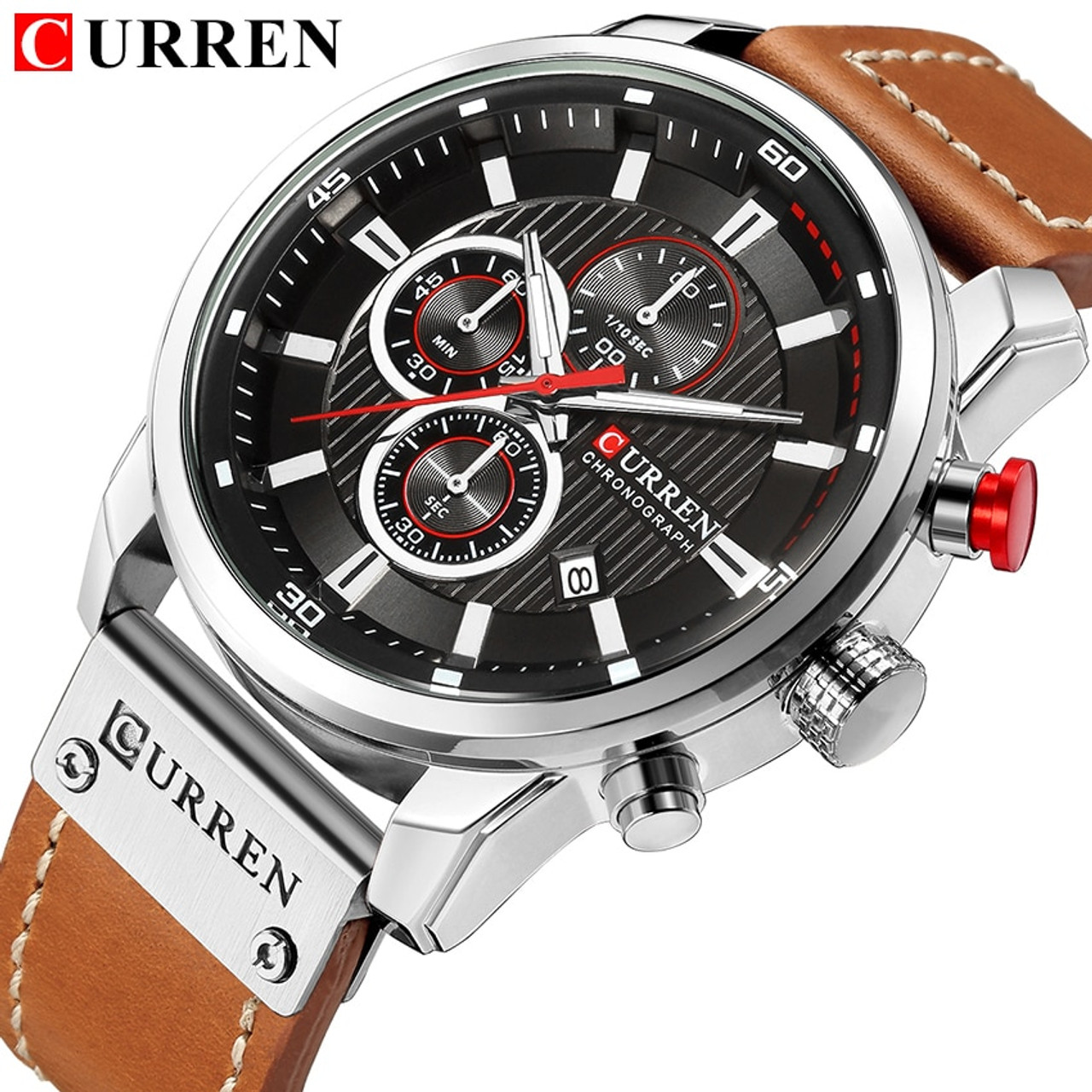 572302a7 CURREN Luxury Brand Men Military Sport Watches Men's Quartz Clock Leather  Strap Waterproof Date Wristwatch Reloj Hombre