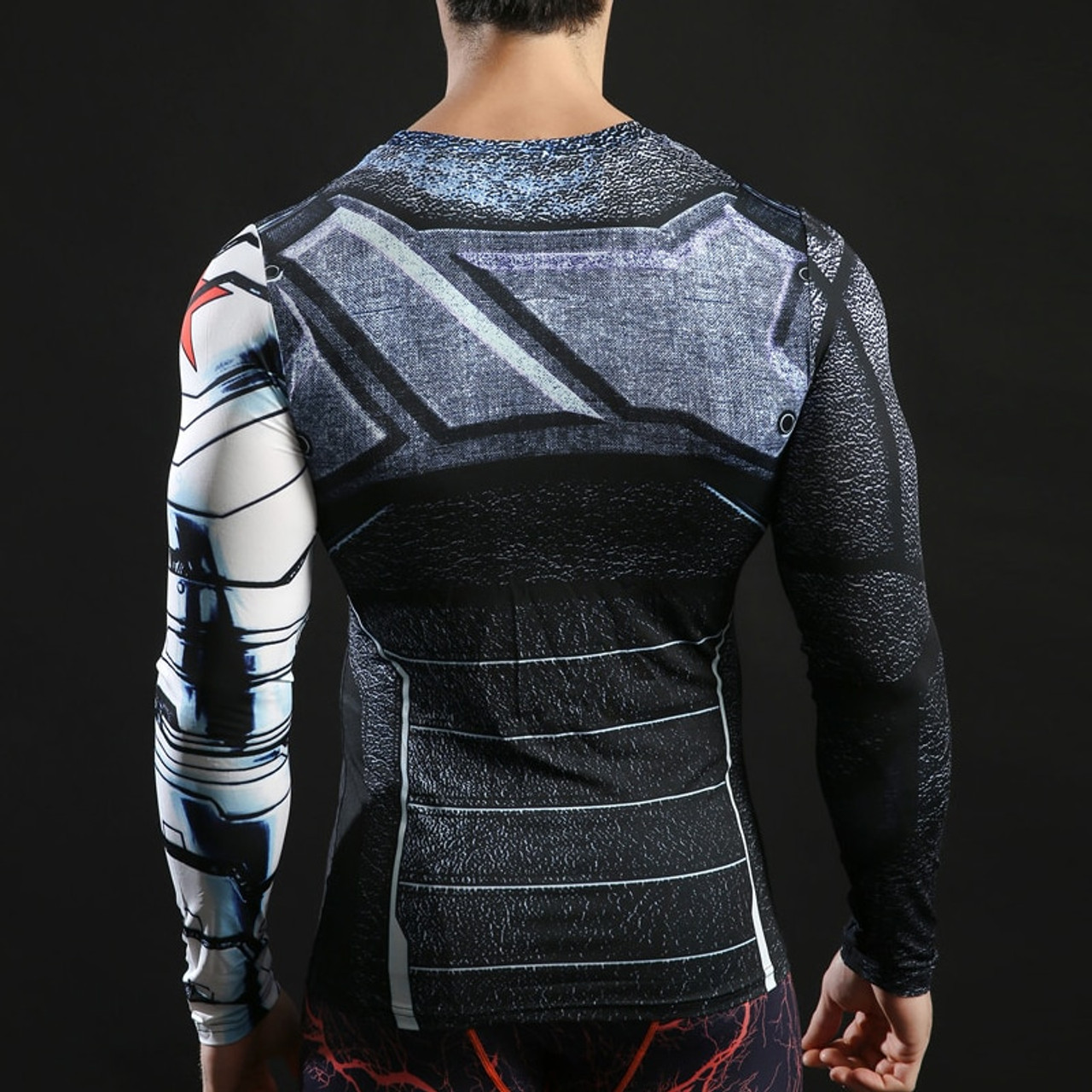31a71a8fb6e5 ... Winter Soldier Tshirts 3d Printed Long Sleeve Tops Men Compression  Fitness Camiseta 2017 American Captain Tees ...